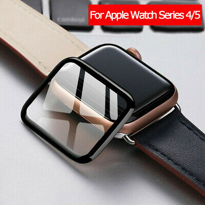 For Apple Watch 5 4 44/40mm 3D Curved Tempered Glass Full Cover Screen Protector