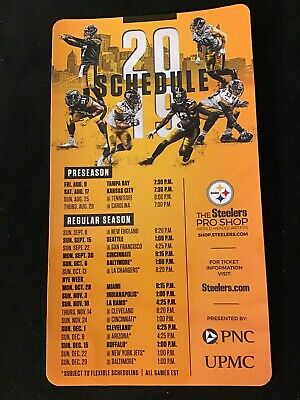 2019 Pittsburgh Steelers Official Magnetic Schedule Lot Of 3