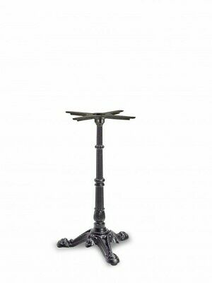 Cast Iron Cafe Bistro Black Table Base 3 Leg Dining Height