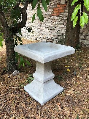 Square shaped bird bath stone garden ornament simple design stunning
