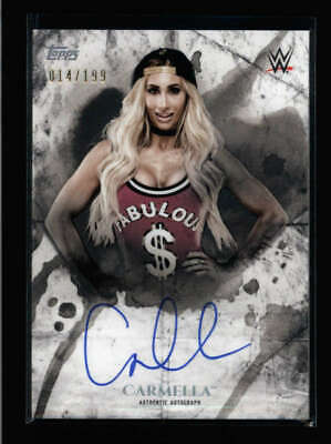 Carmella 2018 Topps Wwe Undisputed Autograph Auto #014/199 An199