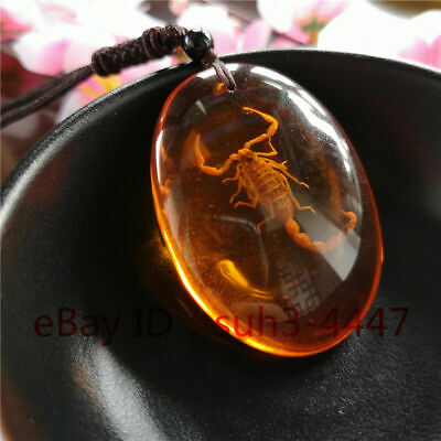 Beautiful Artificial amber Scorpion Pendant