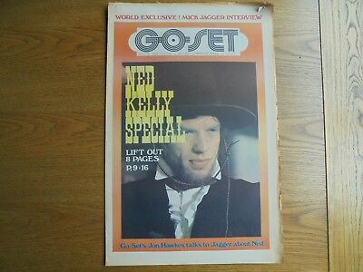 Go - Set Sept 13 1969 Mick Jagger as  Ned Kelly cover & color Poster Vol 4  N 37