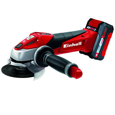 Einhell Amoladora Angular a Batería Litio Disco 115mm Te Ag 18/115 Li Kit