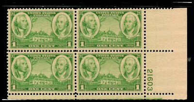 Oas-Cny 6704 Army-Navy Issue 1936 Scott 785 $0.01 Washington Greene Mnh
