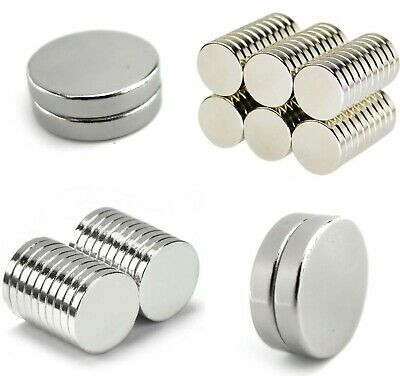 Various X-LARGE N35 Neodymium MAGNETS ~ 2mm Thick ~ Cylinder Ring Round DISCS