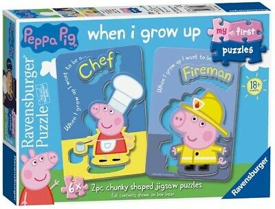 Ravensburger My First Puzzles - Peppa Pig - 6 x 2pc Jigsaw Puzzle