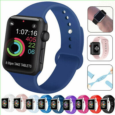 Soft Silicone Band Strap for Apple Watch iWatch Series 3 4 5 38/40/42/44mm