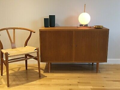 Beautiful Danish mid century oak sideboard compact size (design: Poul Hundevad)