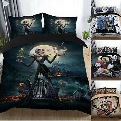 The Nightmare Before Christmas Bedding Sets Jack Duvet Cover Set With Pillowcase