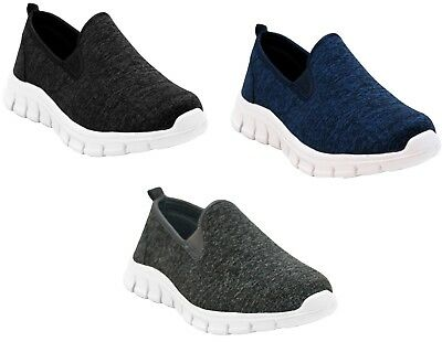 Mens Ladies Womens slip On Sports Gym Lightweight Go Walk Pumps Casual Trainers