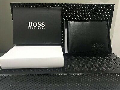 Notes /& Coin ID Card Hugo Boss Soft Slim Bifold Leather Wallet Bank Card
