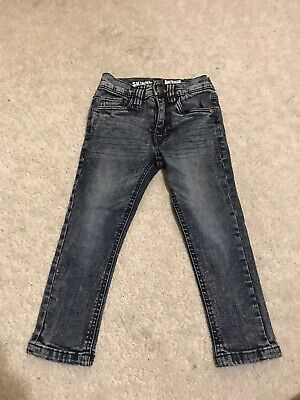 Next Boys Acid wash Skinny Jeans 3 Years
