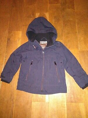 Next Childs Kids Boys Navy Dark Blue Coat Jacket Lined Winter Autumn 3 Years