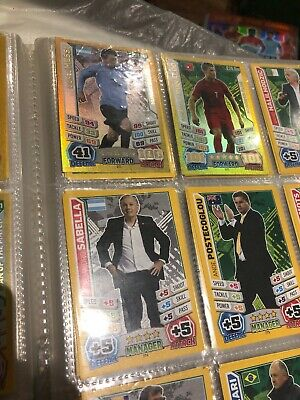 Match Attax Topps World Cup 2014 Complete Set With 100 Clubs
