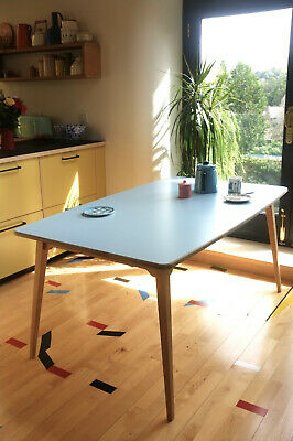 NEW Mid Century Retro Inspired Dining Table I 50s 60s Wood Ply Formica 6 seater