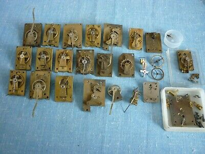 Antique Clock Platform Escapements Cylinder/Lever. Large Lot. Not Working