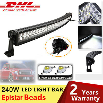 42Inch 240W Curved Led Work Light Bar Combo Beam Driving Lamp Offroad 12/24V 4x4