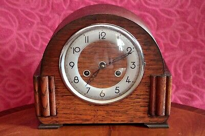 Vintage English 'Perivalel' 8-Day Striking Mantel Clock