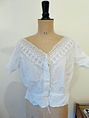 Antique Victorian White Cotton Bodice