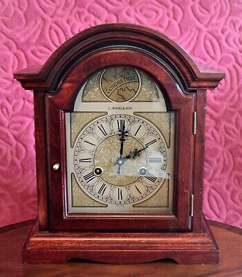 Vintage 'Tempus Fugit' 31-Day Mahogany Case Striking Bracket Clock