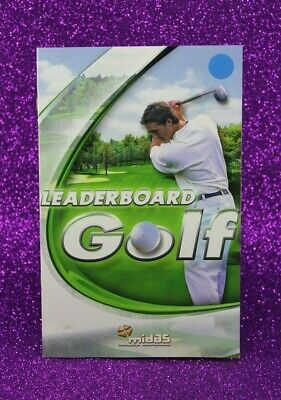 Instruction Booklet/Manual Only For Leaderboard Golf Ps2 (No Game) ❄️ Oz Seller