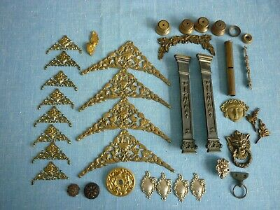 Antique Clock, Spandrels. Pillars. Posts. Castings. Some New Old Stock..