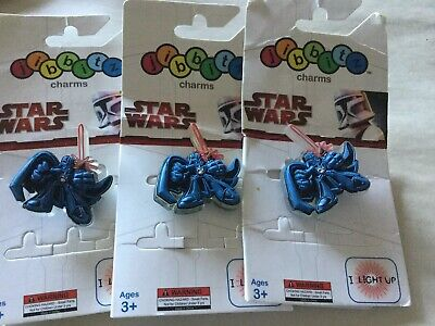 3 Authentic Crocs Jibbitz Shoe Charms Star Wars Darth Vader