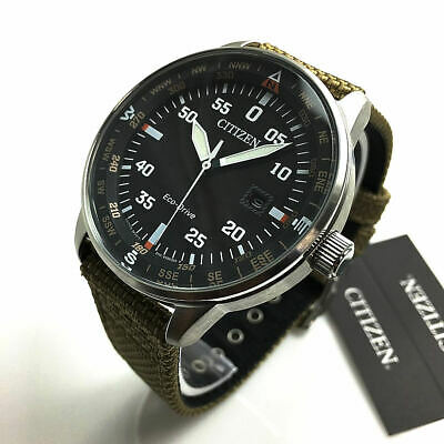 Men's Citizen Eco-Drive Solar Powered Military Style Watch BM7390-14E