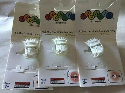 3 Authentic Crocs Jibbitz Shoe Charms LIGHT UP Yeti Head