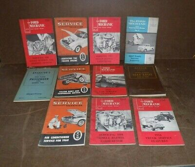 Lot of 11 - Ford  Service Technician Manuals.