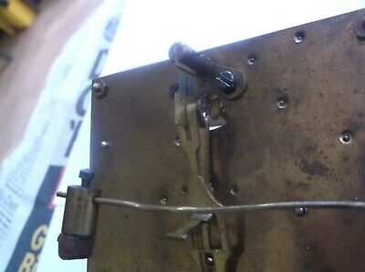 Mechanism  From An Old Quality Mantle Clock  Working Order Ref Iv100