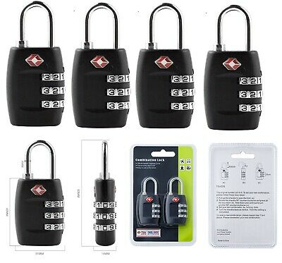 4/2 X TSA Approve Combination Travel Luggage Lock Suitcase Bag Lock Padlock US