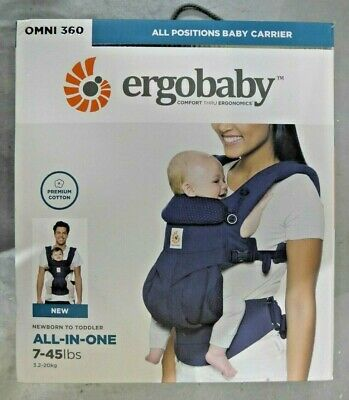 Ergobaby Omni 360 All Positions Baby Carrier, Navy Mini Dots