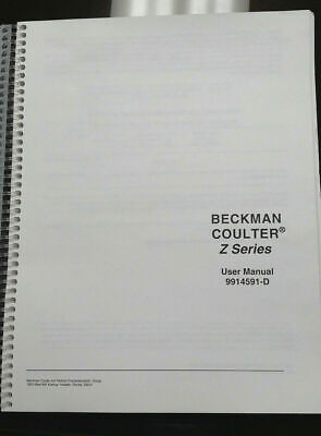 Beckman Coulter Z Series Particle Counter User Manual 9914591-D