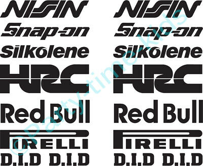 14 X Belly Pan Fairing Sponsor Logo Decals Stickers Colour Choice BR