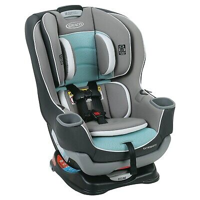 Graco Extend2Fit Convertible Car Seat Baby Toddler Infant Travel Safety Teal