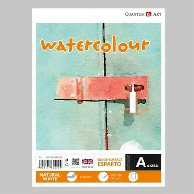 Watercolour ESPARTO Surface Pad Drawing Artist Paper - GUMMED - Book - 300gsm