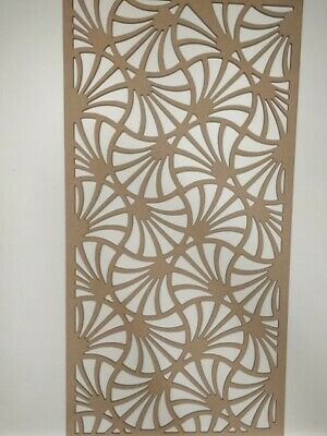 Radiator Cabinet Decorative Screening Perforated 3mm & 6mm thick MDF laser cutW3