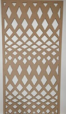 Radiator Cabinet Decorative Screening Perforated 3mm & 6mm thick MDF lasercutKS1