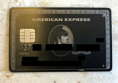American Express Centurion Card With Large Chip