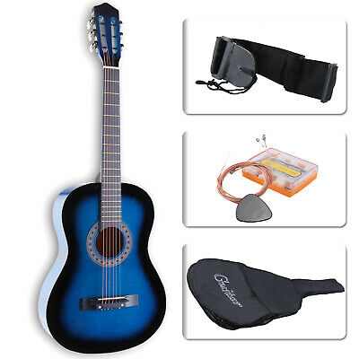 Guitar 38'' Acoustic Guitar with Guitar Case, Strap, Tuner&Pick Steel-stringed