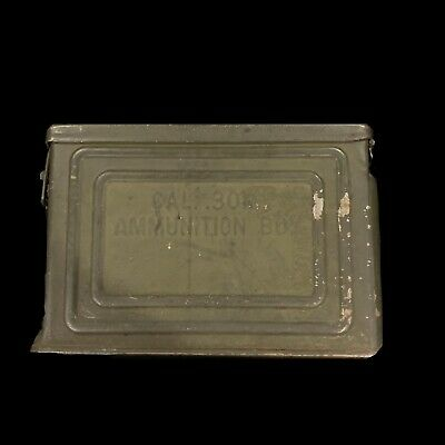 Vintage WWII US ARMY Military Cal .30 M1 Ammunition Box