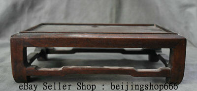 """12"""" Collect Rare Old Chinese Huanghuali Wood Dynasty Palace Table Desk Furniture"""