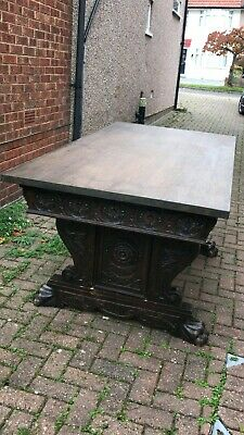 19th C library  table