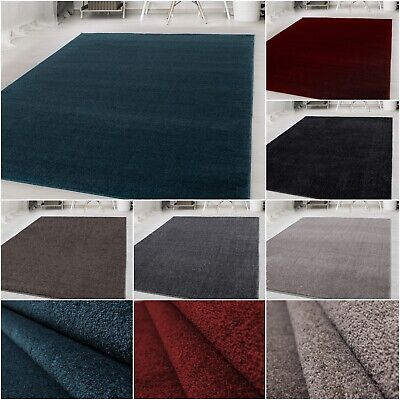 Carpet shortpile unicolor for living room with oeko tex anthracite carpet