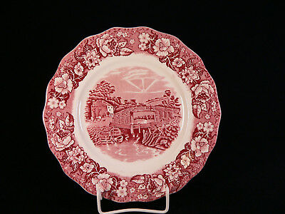Typ I Palissy Thames River Scenes rot //red Suppenteller D 23 cm