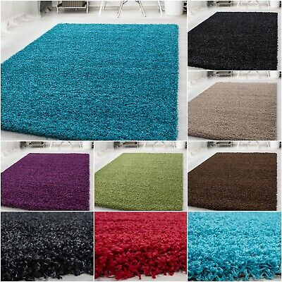 Small - Extra Large Size Thick Modern Plain Non Shed Soft Shaggy Rugs