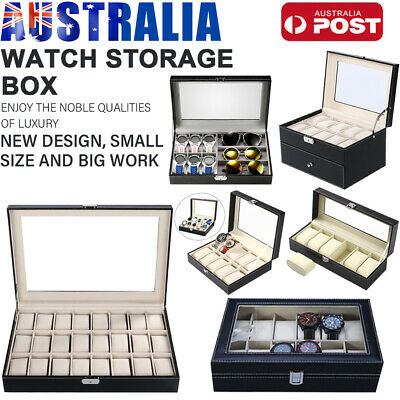 6/9/10/12/20/24 Watch Jewelry Storage Holder Box Watches Sunglasses Display AU