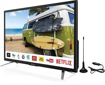 "Sharp 24"" 12v/24v Smart TV Caravan, Truck, Freeview Play Satellite Saorview PVR"
